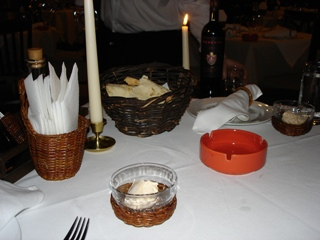 Dampers and entry dish in Etno, Sofia restaurant
