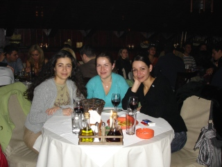 Rumi with friends at Etno restaurant