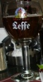 Leffe beer in Olive's, Sofia restaurant
