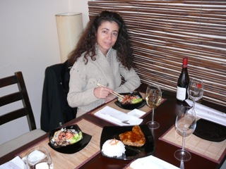 Rumi in Sushi Bar in Sofia