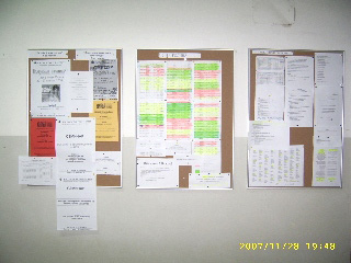 Schedules on the wall :-)