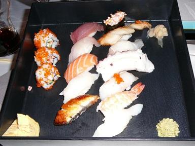Sushi menu in Sasa, Sofia