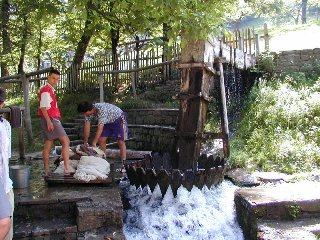 Washing rugs in the river, Etara, Bulgaria. Picture taken from http://www.pbase.com/ngruev/etara